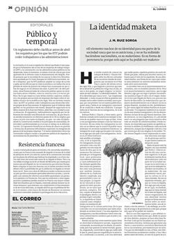 LA IDENTIDAD MAKETA - EL CORREO